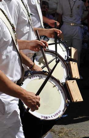 holy week in seville: Drums in a brass band, Holy Week in Seville, Spain