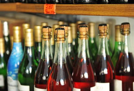 lambrusco: Bottles of wine, lambrusco and other