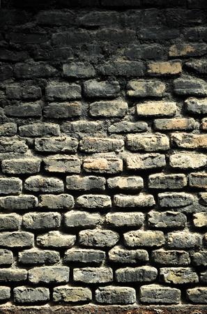 brick kiln: Background and texture, brick wall blackened by smoke, old pottery kiln