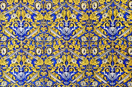 Baseboard of mosaic tiles, decorative background