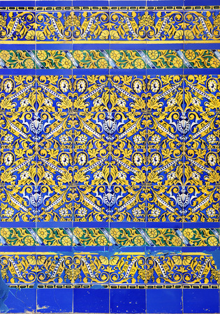 polychromatic: socle of mosaic tiles, decorative background