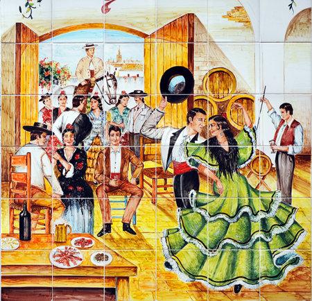 Flamencodansers, Sevilla, Spanje Redactioneel