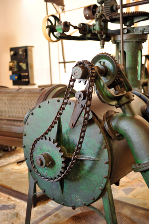 milling center: Gears, antique oil mill become ethnographic interpretation center, Canaveral de Leon, Huelva province, Spain