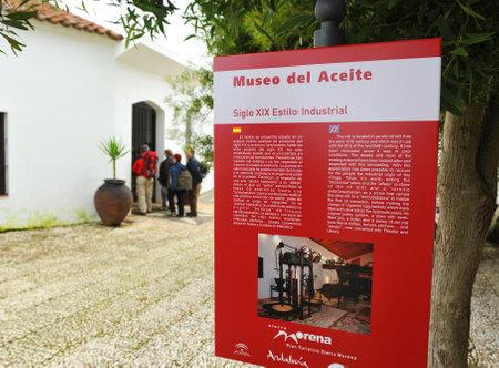 ethnographic: Antique oil mill become ethnographic interpretation center (Museo del Aceite), Canaveral de Leon, Huelva province, Spain