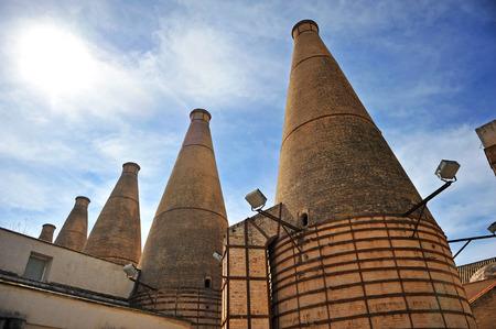 Pottery kilns, the carthusian monastery of Santa Maria de las Cuevas (Cartuja de Santa Maria de las Cuevas), Seville, Andalusia, Spain Stock Photo