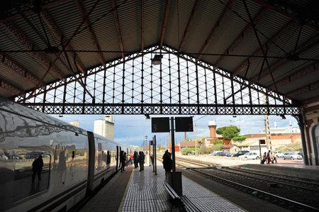 campo: Railway station in Medina del Campo, province of Valladolid, Spain