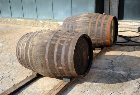 loading dock: Casks in the cellar, loading dock
