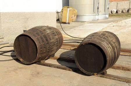 casks: loading dock in the cellar