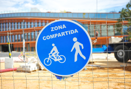 pedestrians: Bicycles and pedestrians, shared area