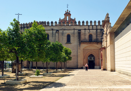 Monastery of San Isidoro del Campo in Santiponce, province of Sevilla, Andalusia, Spain Stock Photo