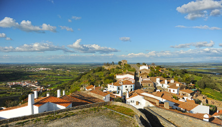 southern europe: landscape of Alentejo seen from the village of Monsaraz, Portugal, southern Europe