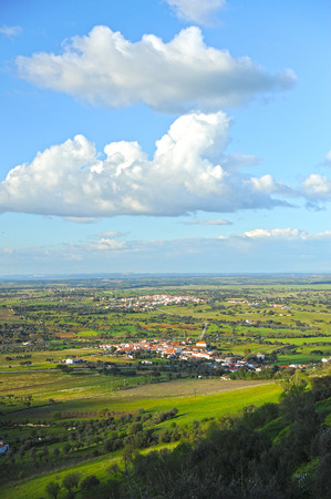 southern europe: landscape of the region of Alentejo seen from the village of Monsaraz, Portugal, southern Europe