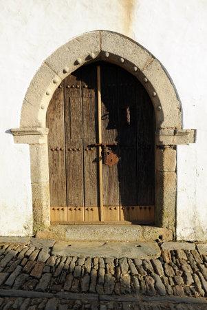 alentejo: Gothic door in stone, Monsaraz, Alentejo, Portugal