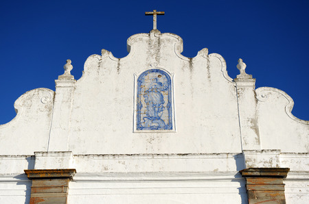 donjon: Azulejo, Church of Santa Maria da Lagoa, Monsaraz, Alentejo, Portugal