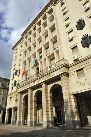 magistrates: Palace of Justice in Seville, Courthouse (Juzgados), Spain
