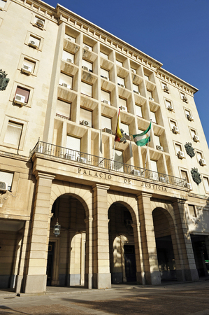 eclecticism: the courthouse (Juzgados), Palace of Justice in Seville, Spain Editorial