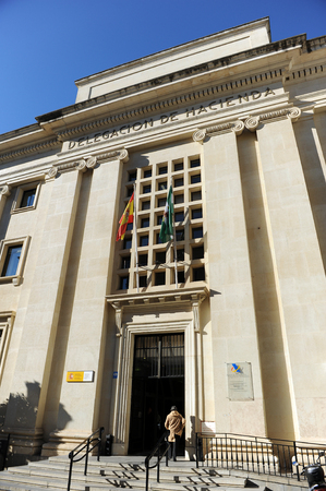 taxpayers: Building of the delegation of public finances (Hacienda), Seville, Spain