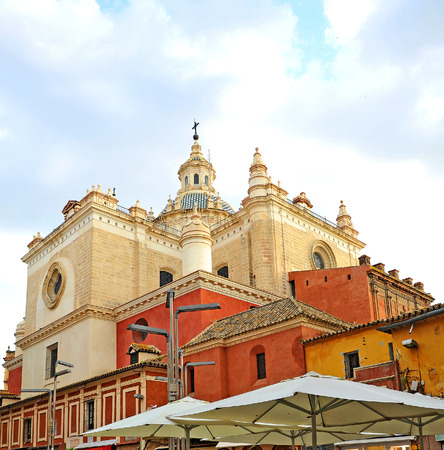 Church of the Saviour, Plaza of the bread in Seville, Plaza del Pan, Andalusia, Spain