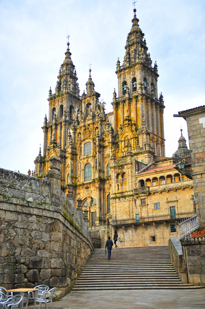Cattedrale di Santiago de Compostela, cammino di Santiago, in Spagna
