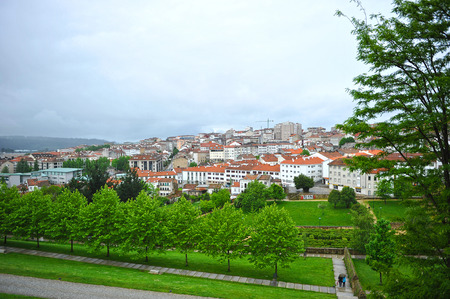 View of Santiago de Compostela from the Belvis Park, Galicia, Spain
