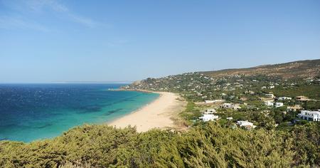 La plage Allemands à Zahara de los Atunes, plages de Cadix, en Espagne, au sud de l'Europe Banque d'images - 67374559