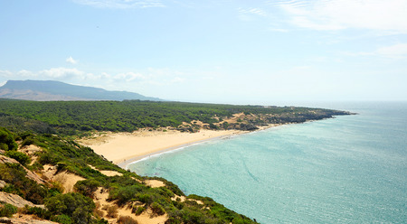 The Canuelo beach in Zahara de los Atunes, coast of Cadiz, Spain
