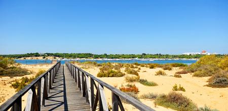 Parc Naturel Marismas del Rio Piedras et Flecha del Rompido, Huelva, Espagne Banque d'images