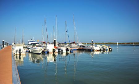 Marina à El Rompido, province de Huelva, Espagne