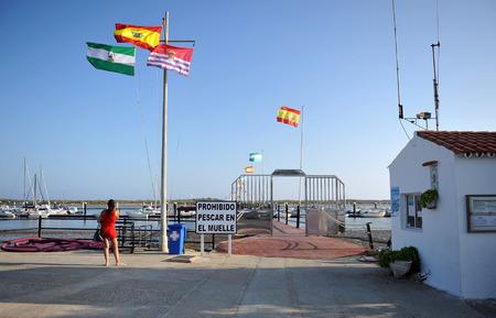 Port à El Rompido, province de Huelva, Espagne