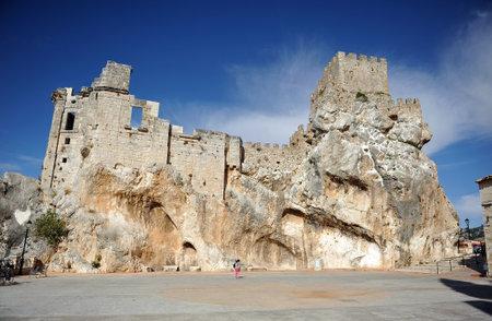 Castle of Zuheros, Natural Park Subbetica, Cordoba province, Spain Editorial