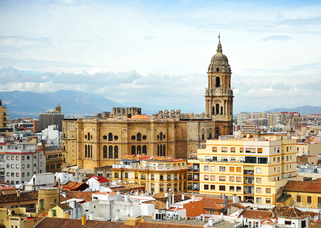 Cathedral of Malaga from the Alcazaba, Andalusia, Spain