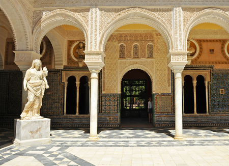 olympus: Ceres, the Roman goddess in the Palace of Pilatos, Seville, Spain Editorial