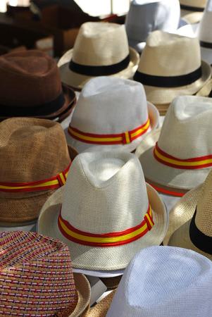 Spanish straw hats for summer, Spain Foto de archivo