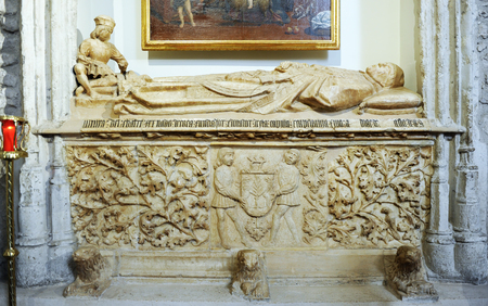 Alabaster sepulcher, Coca Chapel in the church of San Pedro in Ciudad Real, Spain