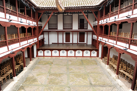 Corral de Comedias in Almagro, a perfectly preserved ancient theater where a famous classical theater festival is held every year. Province of Ciudad Real, Spain