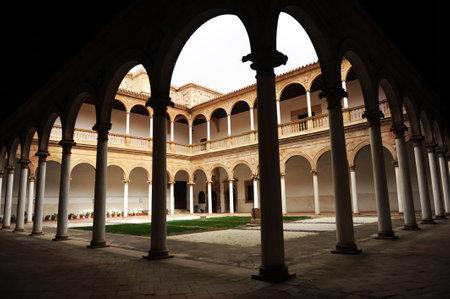 almagro: Cloister of the convent of the Assumption of Calatrava, Almagro, Castilla la Mancha, Spain