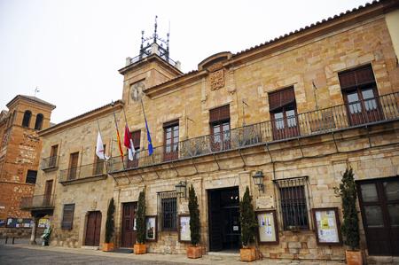 Hôtel de ville de la Plaza Mayor, Almagro, province de Ciudad Real, Castille-La Manche, Espagne