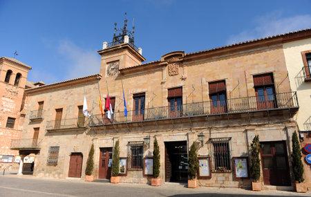 almagro: Town Hall in the Main Square, Almagro, Province of Ciudad Real, Castilla la Mancha, Spain Editorial