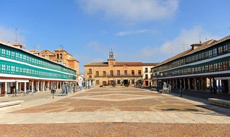 almagro: Plaza Mayor, the main square, Almagro, Province of Ciudad Real, Castilla la Mancha, Spain