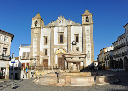 the abbot: Church of Saint Anthony Abbot in Evora, Alentejo, Portugal Editorial