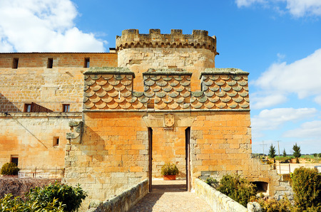castilla: Castillo del Buen Amor, Entrance of Good Love Castle in Topas, province of Salamanca, Spain