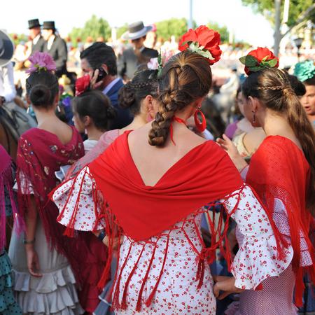 Beatiful girls, Fair in 세비야, 스페인 스톡 콘텐츠