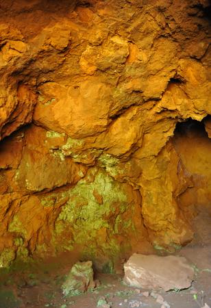 Cave at Cerro del Hierro, San Nicolas del Puerto, province of Huelva, Spain Banque d'images - 106303071