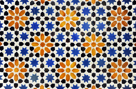 Decoratieve achtergrond, Moorse tegels