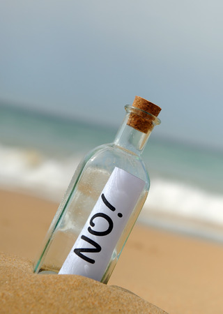 No, bottle on the beach
