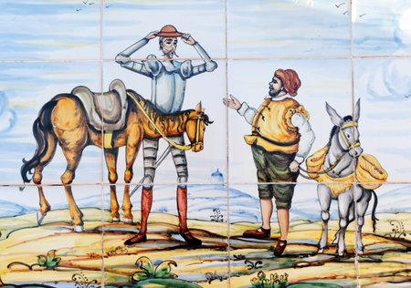 Don Quichotte et Sancho Panza Banque d'images - 81901405