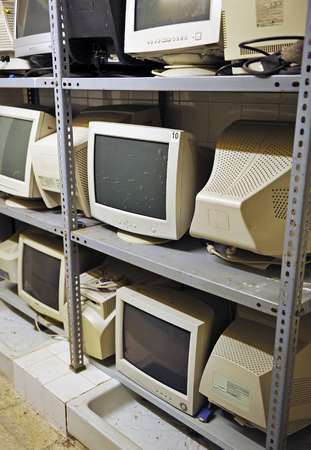 Scheduled obsolescence, obsolete computers Stock Photo