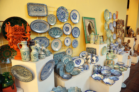 Andalusian ceramics crafts souvenirs, Spain
