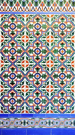 Decorative background, spanish mosaic tiles