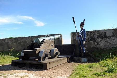 Cannon of artillery, Santa Luzia Fort in Elvas, Alentejo, Portugal